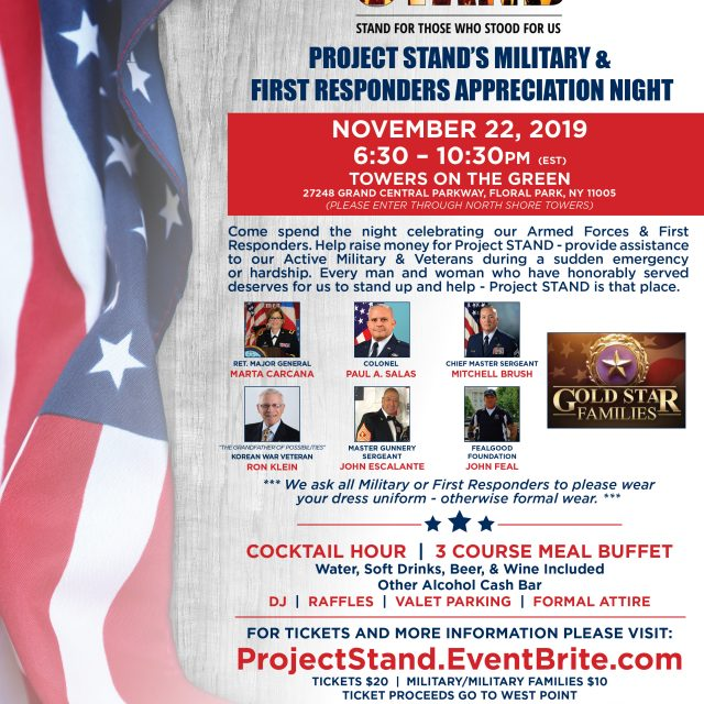 VetsEDU ~ PROJECT STAND – November 22, 2019 6:30 PM